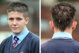 15 year old hair cut model pupil is barred from swinton high school over v haircut
