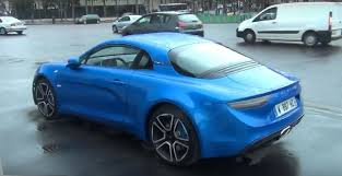 alpine a110 new alpine a110 spotted driving in paris after geneva debut