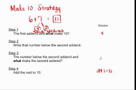 1 oa 6 2 oa 2 make 10 strategy for addition youtube