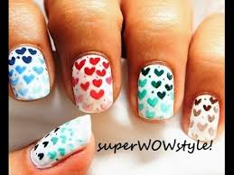 valentines day nail designs for valentines day hearts nail art