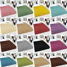 Large Modern Rugs Small Large Size Thick Plain Soft Shaggy Rug Non Shed Pile Modern