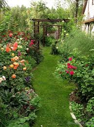 a beautiful garden deep curved flower beds i would have a curved