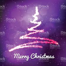 xmas spark tree on lilac gradient background with snow stock