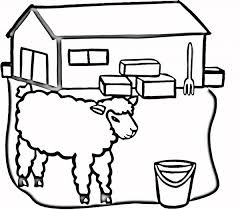 picture sheep barn coloring color luna