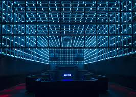 led light installation near me new brazilian nightclub has movement sensitive led light