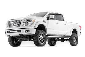 nissan juke lift kit rough country 6in suspension lift kit u2013 2016 titan xd 4wd