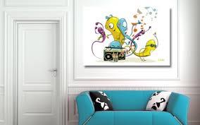 toile pour chambre bébé nouveau tableau déco chambre enfant worms