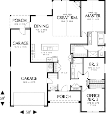 craftsman floor plan one craftsman plan 69018am architectural designs house