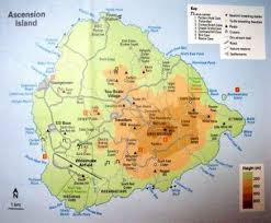 ascension islands map ascension island map world