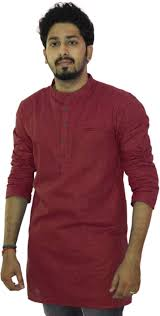 riders solid men u0027s straight kurta buy maroon riders solid men u0027s