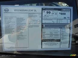 nissan leaf safety rating 2017 2012 nissan leaf sl window sticker photo 61589634 gtcarlot com