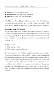 Cv Skills And Attributes How To Write A Cv