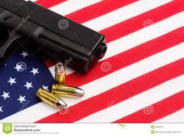 Americsn Flag American Flag Gun Stock Photos Royalty Free Stock Images