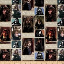 Harry Potter Movies by Harry Potter Digital Hermione Multi Discount Designer Fabric