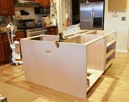 custom kitchen island cream particel board wood drawer wall