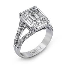 square rings jewelry images Mr2020 engagement ring simon g jewelry png
