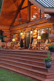 470 best rustic homes and interiors images on pinterest log log cabin porches log cabin porch dream home