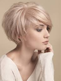 cropped hair styes for 48 year olds short round layers side swept bangs short hair pinterest