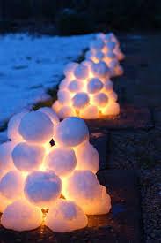 diy deko ideen zu weihnachten den garten gestalten snow