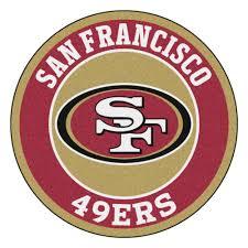 francisco 49ers logo roundel mat 27