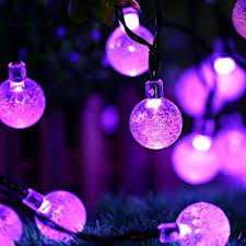 Outdoor Christmas Decorations Amazon by Icicle Solar String Lights 20ft 30 Led Waterproof Outdoor Globe