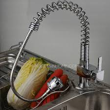 Kitchen Sink Faucet With Pull Out Spray by Pullout Spray Spring Pipe Kitchen Sink Faucet
