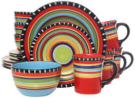 amazon com gibson elite pueblo springs 16 piece dinnerware set