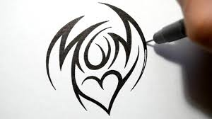 tattoo designs for letters how to draw mom tribal tattoo design style youtube