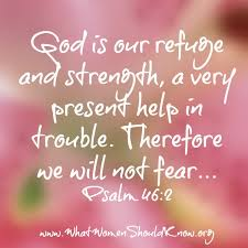 god is our refuge and strength psalm 46 2 inspirational