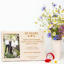 30 wedding anniversary 30th wedding anniversary personalised photo frame by gift