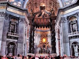 baldacchino by bernini bernini s baldachin in rome s st s basilica the roaming