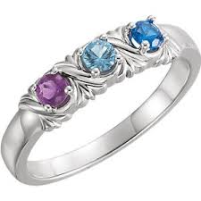 s day birthstone rings s day jewelry sterling silver s birthstone ring 1 6