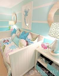 Tattered And Inked Coral  Aqua Girls Room Makeover DIY Home - Bedroom colors for girls