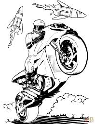 free wheels motorcycle coloring printable pages