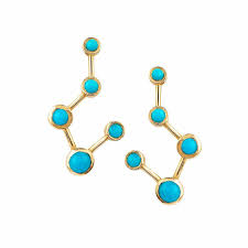 constellation earrings big dipper turquoise constellation earrings limited edition