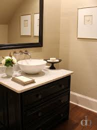 Antique Black Bathroom Vanity by Powder Room Antique Black Sink Vanity Contemporary Bathroom