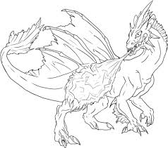 dragon coloring page free download