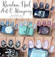 random nail art u0026 stamping peachy polish