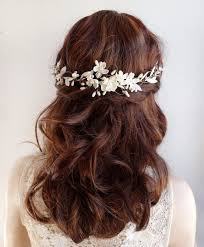 wedding hair flowers ivory hair floral headpiece ivory hair clip bridal hair