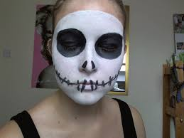 halloween jack skellington make up tutorial youtube