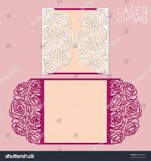 Wedding Invitation Card Templates Laser Cut Wedding Invitation Card Template Stock Vector 496360618