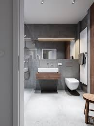 trendy bathroom designs combined with modern and geometric concept
