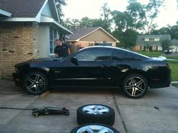 2012 Mustang 5 0 Black Mustang 2010 Gt500 Style Black Machined Wheel U0026 Pirelli Tire Kit