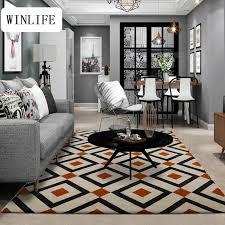 Big Area Rug Aliexpress Buy Winlife Plaid Design Carpet Decorative Living
