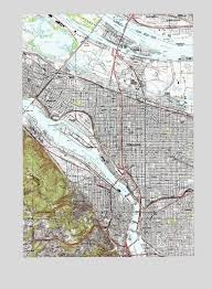 portland or topographic map topoquest