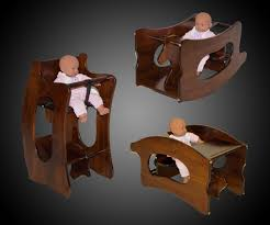 3 in 1 amish high chair