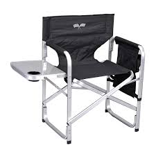 Lawn Chair With Table Attached Amazon Com Stylish Camping Sl1204bur Full Back Folding Director U0027s