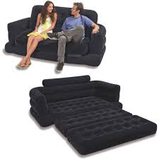 intex two person inflatable pull out sofa bed black price