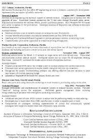Resume Template Engineer Network Engineer Resume Sample Medical Records Corporation Free