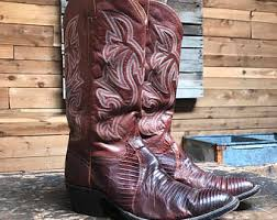 womens size 9 in mens boots lizard skin boots etsy
